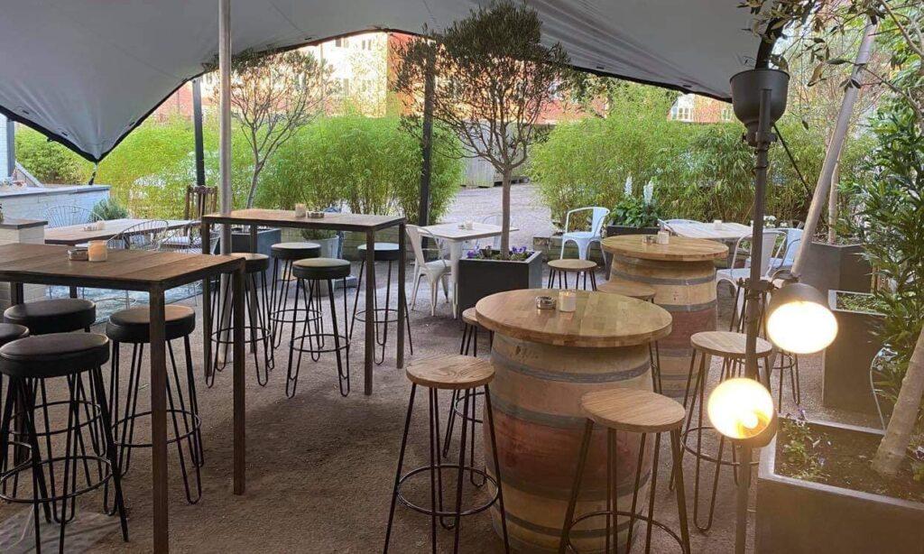 Beer Garden at Lion & Pheasant